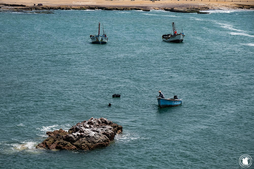Pêcheurs dans la réserve naturelle de Paracas