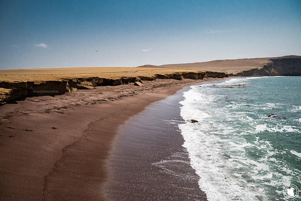 Playa Roja - Réserve naturelle de Paracas