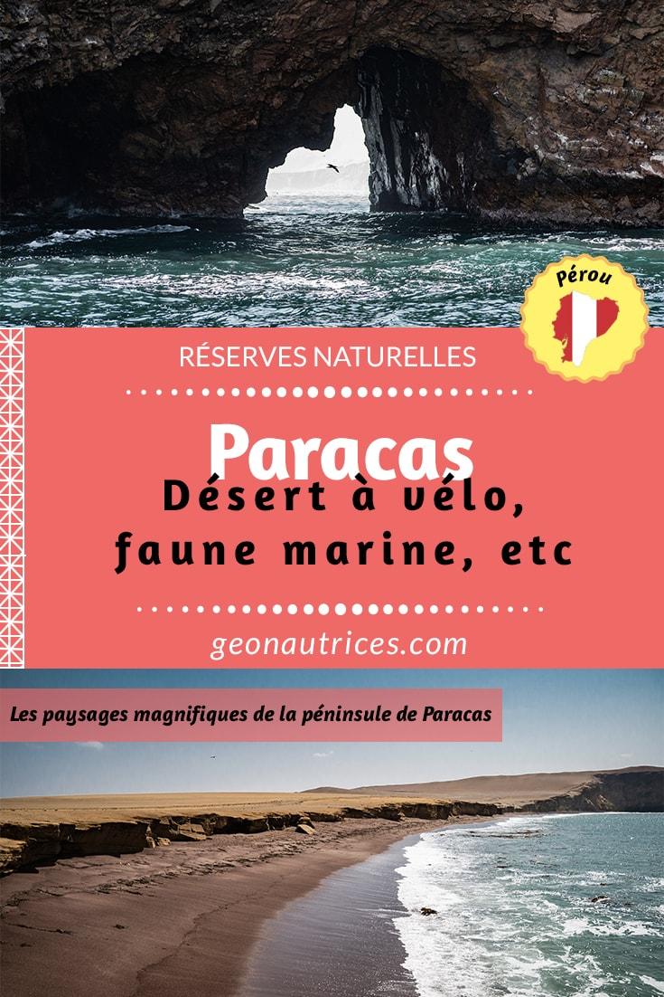 La péninsule de Paracas est une découverte merveilleuse, de surcroit, en vélo ! Quel plaisir que d'arpenter le désert par ses propres moyens physiques tout au long de la journée. Sans oublier la découverte de la réserve naturelle des îles Ballestas, une déception, mais apprenez donc pourquoi pour ne pas faire comme nous dans notre article. #voyageethique #voyageslow #perou #voyage