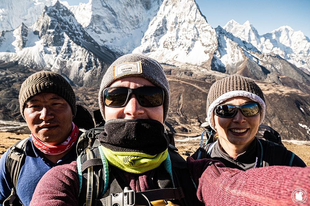 Trek des 3 cols - Mon amie Anaïs et notre guide DaSonam