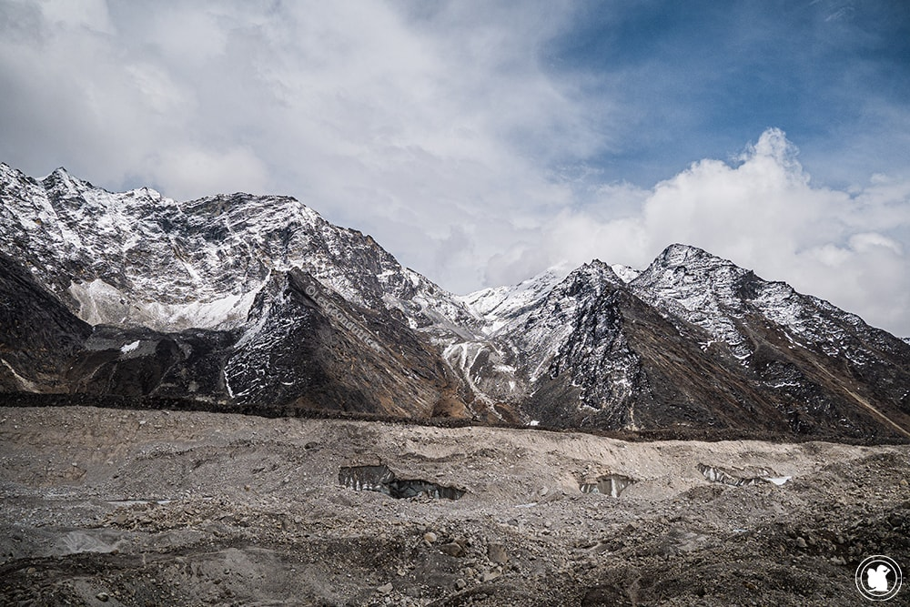 Trek des 3 cols - Glacier Khumbu et montagnes