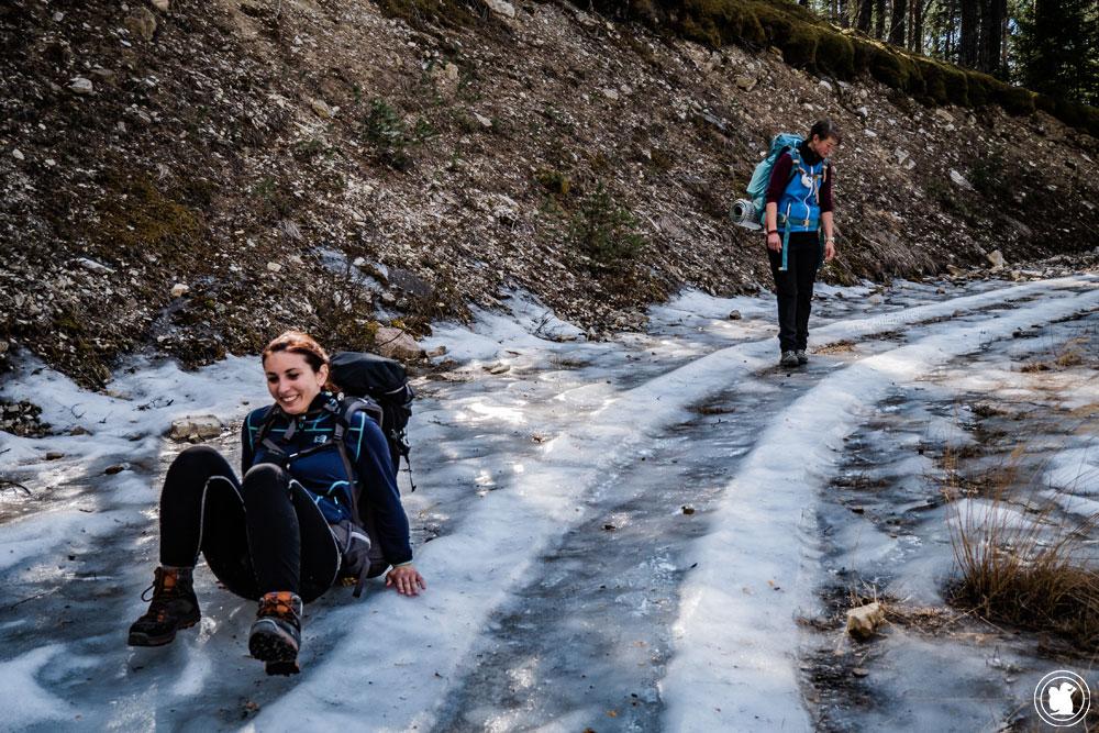 Trek Val d'Allos chemin de glace
