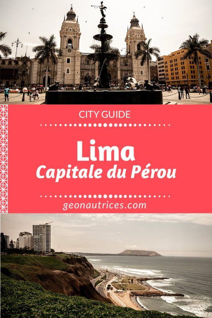 lima, la capitale du Pérou est une ville titanesque mais qui mérite bien quelques jours sur place pour la découvrir ! #lima #pérou #amériquelatine