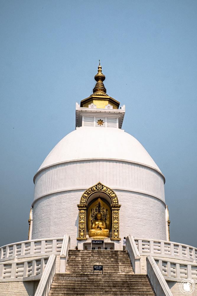 World Peace Pagoda à Pokhara