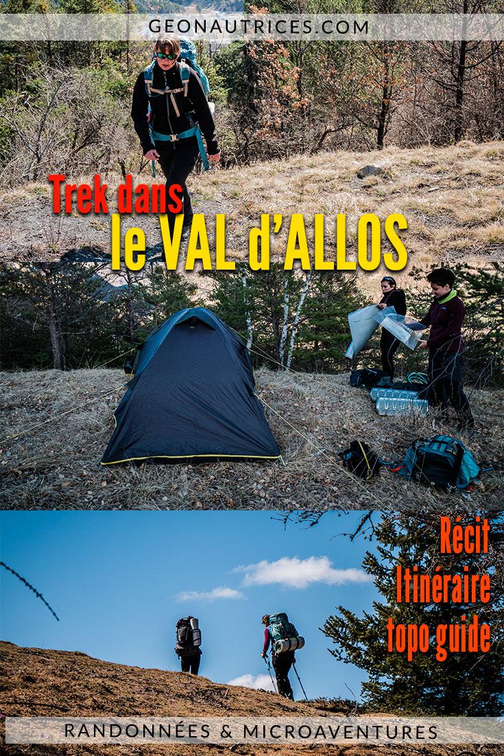 Randonner deux jours dans le Val d'Allos à la fin du mois de Mars, c'est une expérience super sympa et plein de surprise ! #trek #france #bivouac