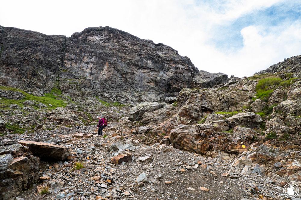 Descente du col de la Terrasse vers Chalet de Loriaz