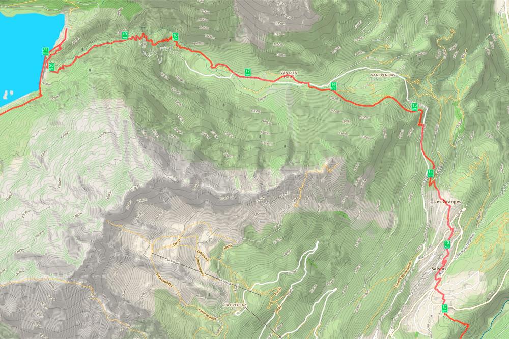 Tour de la Vallée du Trient - jour 1