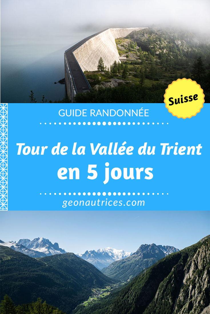 Nous avons fait le Tour de la Vallée du Trient en 5 jours en Suisse en été. Cette randonnée est sublime et offre des panoramas magnifiques dans les montagnes ! Voici tous les détails pour programmer votre séjour dans la Vallée du Trient ! #trient #suisse #randonnée #trek #valais