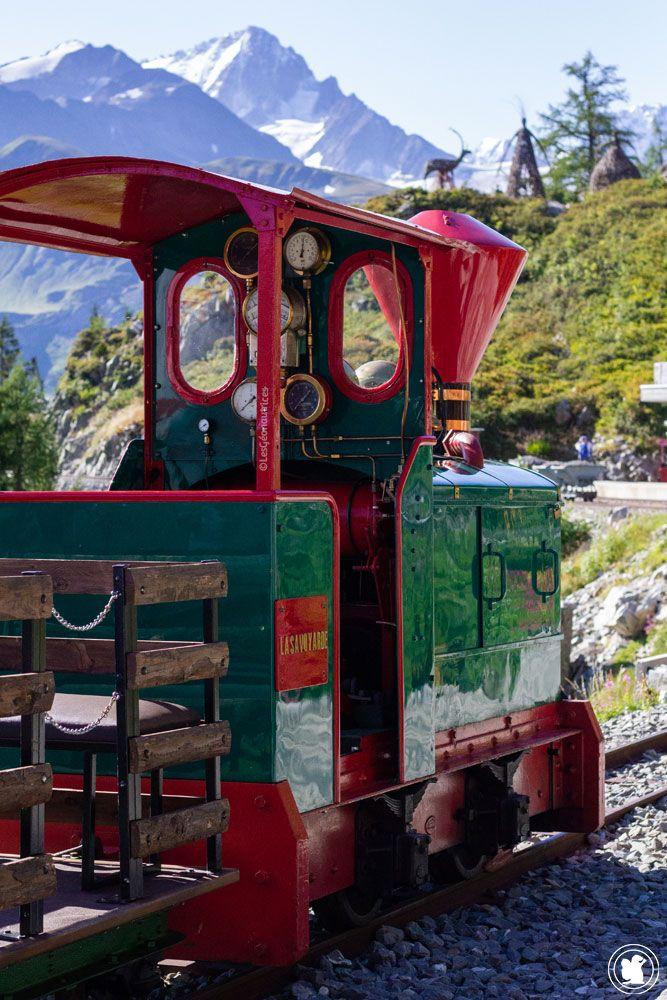 Train panoramique Verticalp - locomotive en expo