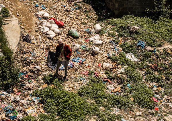 Déchets au Népal - Katmandou