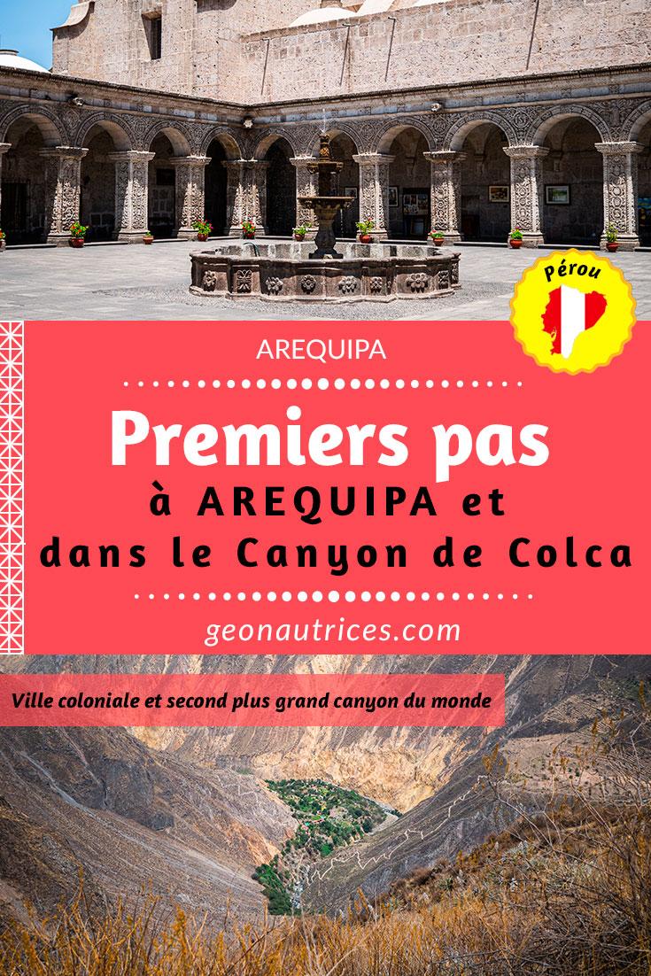 Arequipa, classée au patrimoine mondial de l'UNSECO depuis 2000, est la seconde plus grande ville du Pérou et la porte d'entrée vers les contrées incroyables du Canyon de Colca. #Pérou #Arequipa #CanyonColca