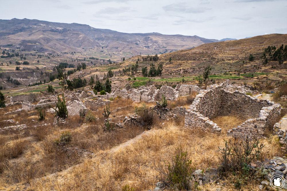 Ruines d'Uyo Uyo à Yanque Canyon de Colca