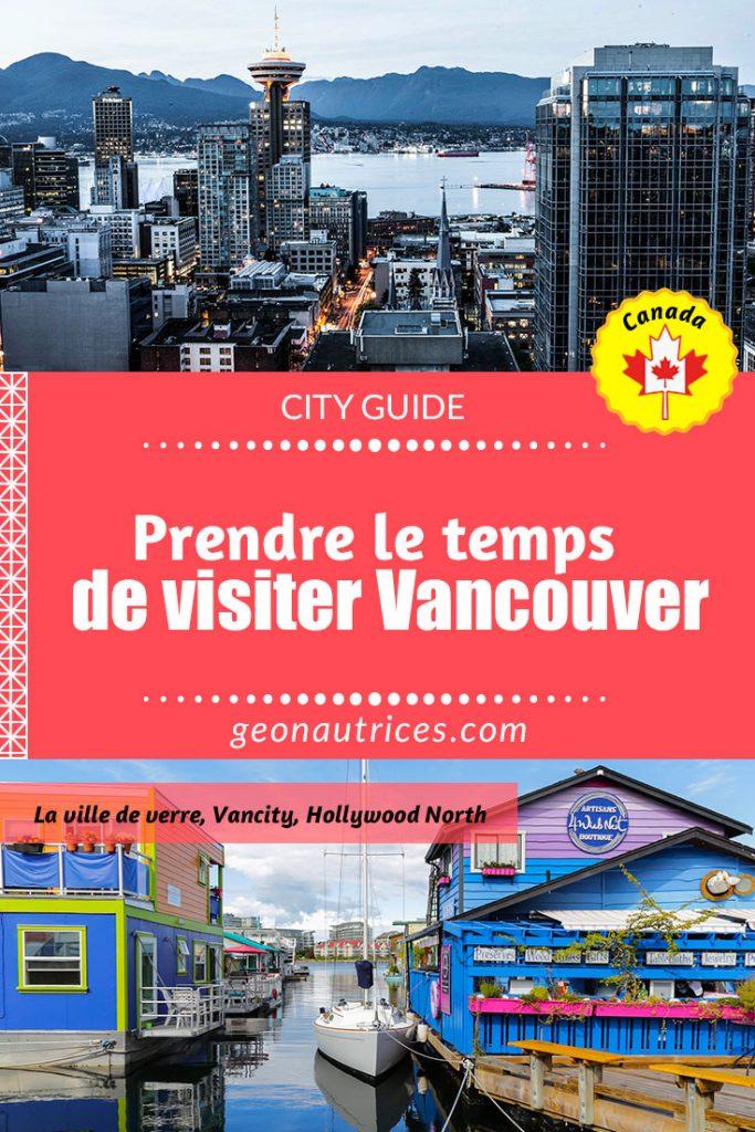 Prendre le temps de visiter Vancouver, c'est apprendre à découvrir une ville vibrante et agréable en toute saison. Ville moderne est jeune, Vancouver bénéficie d'un climat clément et d'une énergie unique. #Vancouver #Canada #Visitcanada