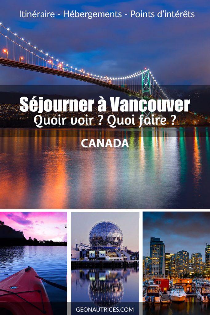 Séjourner à Vancouver, c'est tout simplement exceptionnel. Entre l'océan Pacifique et les rocheuses canadiennes. Vous aurez de quoi voir et de quoi faire ! Mais Vancouver c'est aussi une ville accueillante et agréable à vivre. #Vancouver #Canada #visitcanada