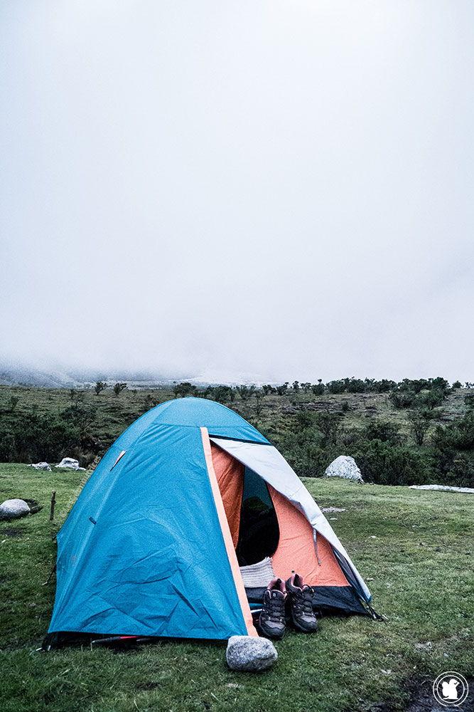 2e campement sur le trek de Santa Cruz Pérou