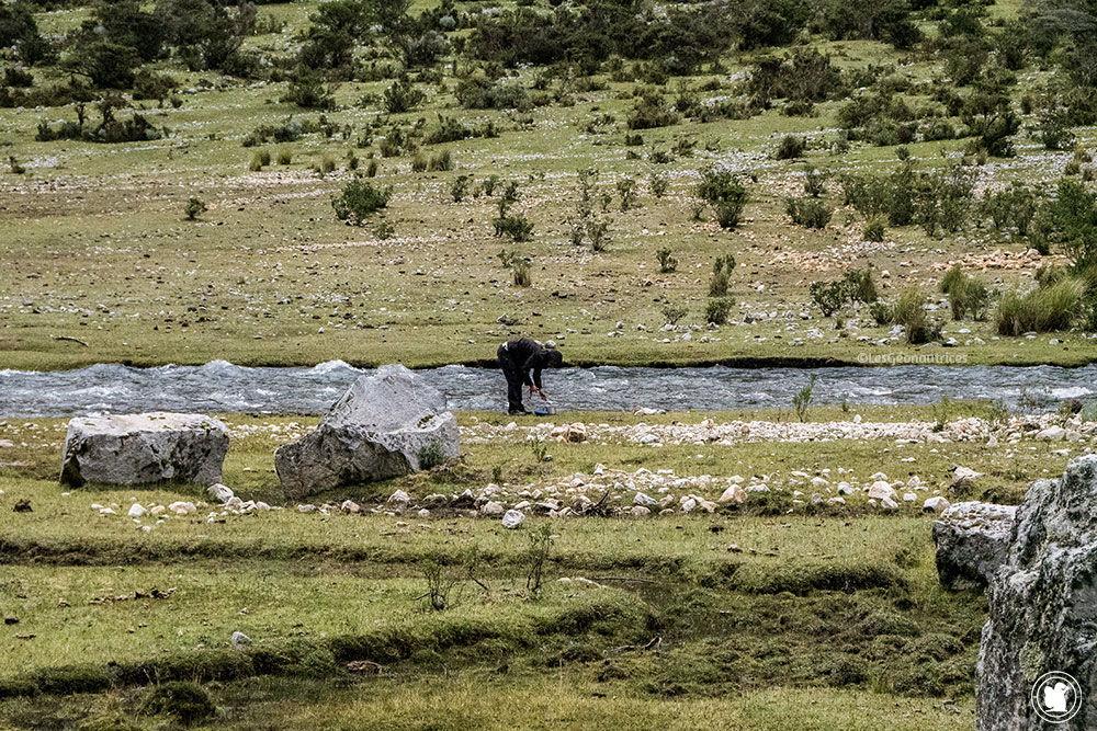 1er campement sur le trek de Santa Cruz Pérou