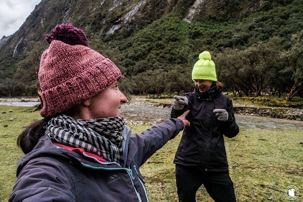 Les Géonautrices sur les sentiers du trek de Santa Cruz au Pérou en autonomie totale