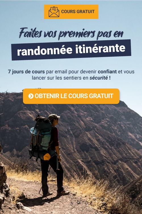Cours email gratuit : premiers pas en trekking