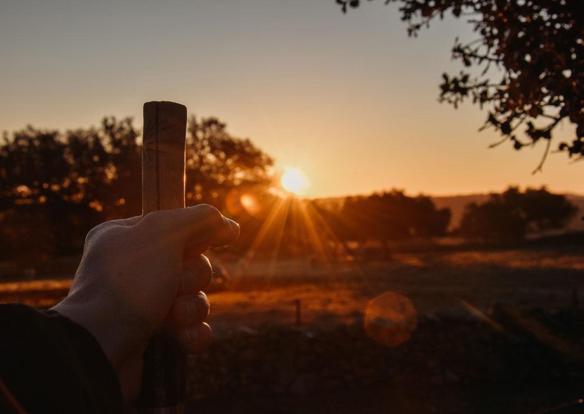 Lever de soleil sur la Via de la Plata - ©Astrid, Histoires de tongs