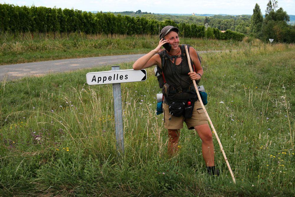 Quelque part sur la voie de Vézelay - ©Astrid, Histoires de tongs
