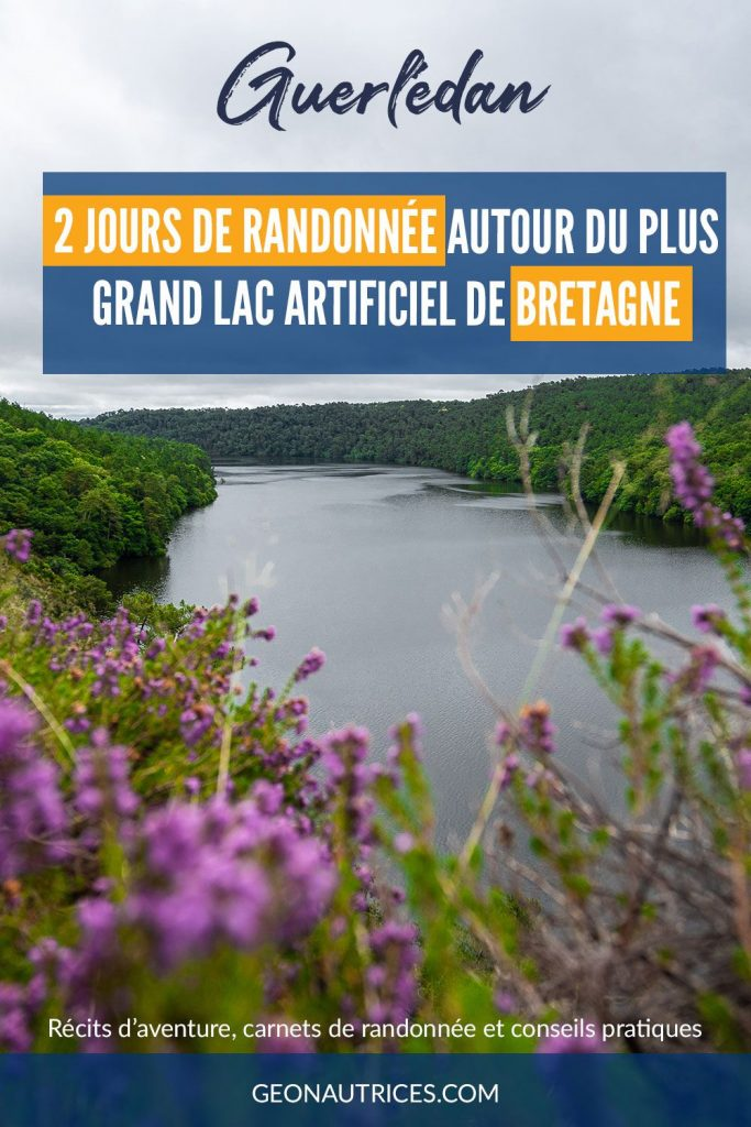 2 jours de randonnée autour du lac artificiel le plus grand de Bretagne. Tour de Guerlédan. Retour d'expérience et infos pratiques pour le faire en bivouac, campings ou en hébergements. Nature et calme garantie ! #randonnée #bretagne #nature