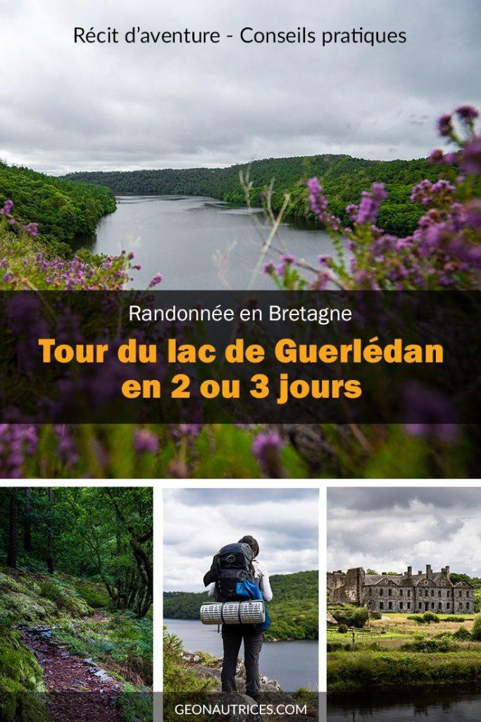 Randonnée en Bretagne de 2 ou 3 jours autour du lac de Guerlédan. Notre retour d'expérience et infos pratiques pour le faire en bivouac, campings ou en hébergements. Nature et calme garantie ! #randonnée #bretagne #nature