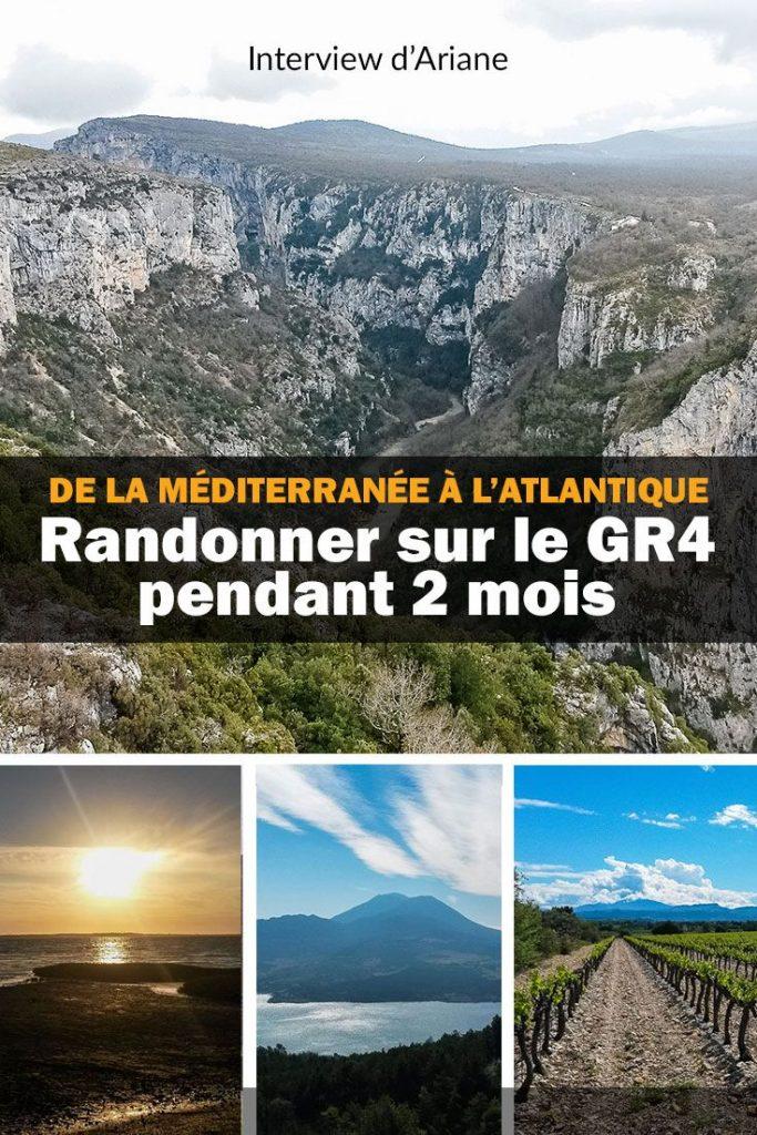 Marcher de la méditerranée à l'Atlantique sur le GR4 pendant 2 mois en solitaire. C'est l'expérience incroyable que partage Ariane dans cet interview ! #randonnéesolo #randonnéeauféminin #randonneuse #gr4 #trek