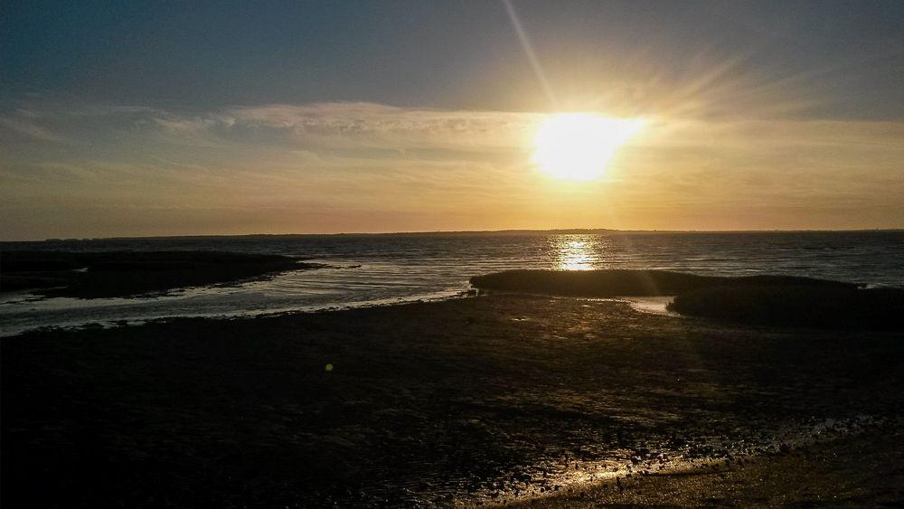 GR4 d'Ariane - Coucher de soleil sur l'Atlantique