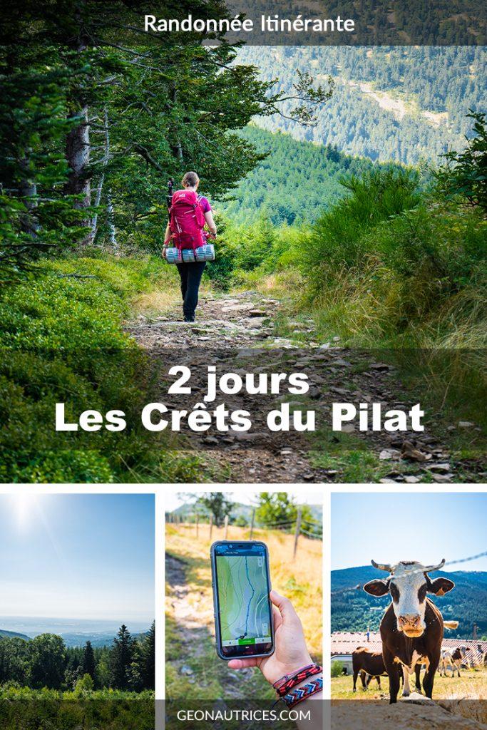 Marcher deux jours sur les Crêts du Pilat dans le PNR du Pilat dans le département de la Loire. Une randonnée accessible pour petits et grands ! #Randonnéeitinérante #france #microaventure