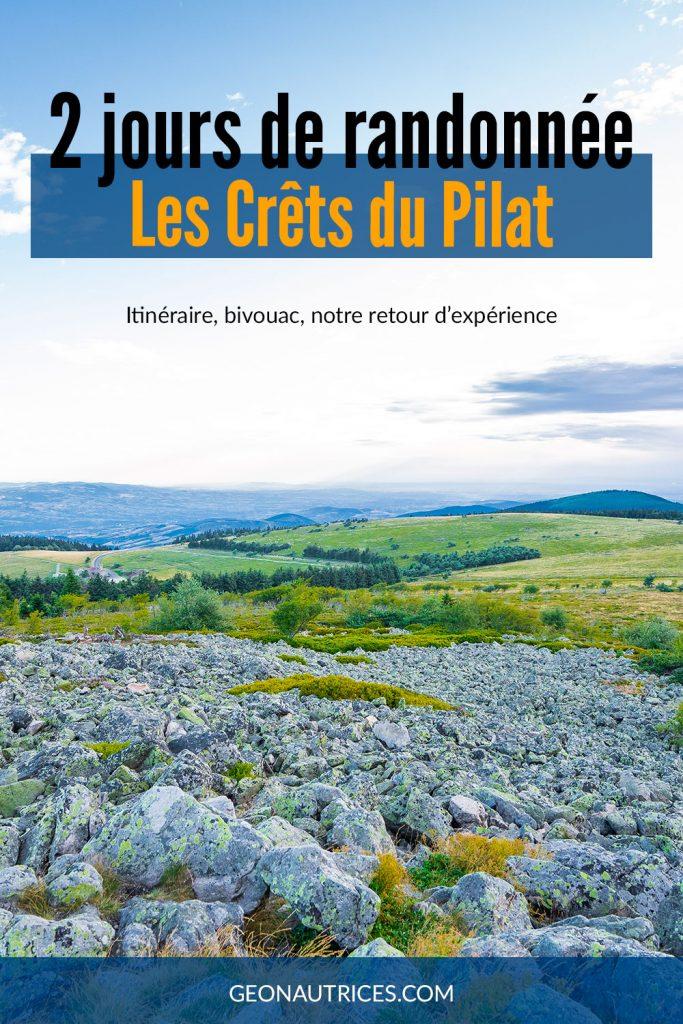 Prendre le temps de découvrir un bout du Parc Naturel Régional du Pilat au cours d'une randonnée de 2 jours sur les Crêts du Pilat. #Randonnée #Itinérance #France