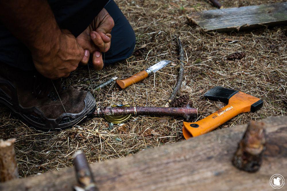 Stage de survie - savoir s'adapter en se fabriquant ses outils