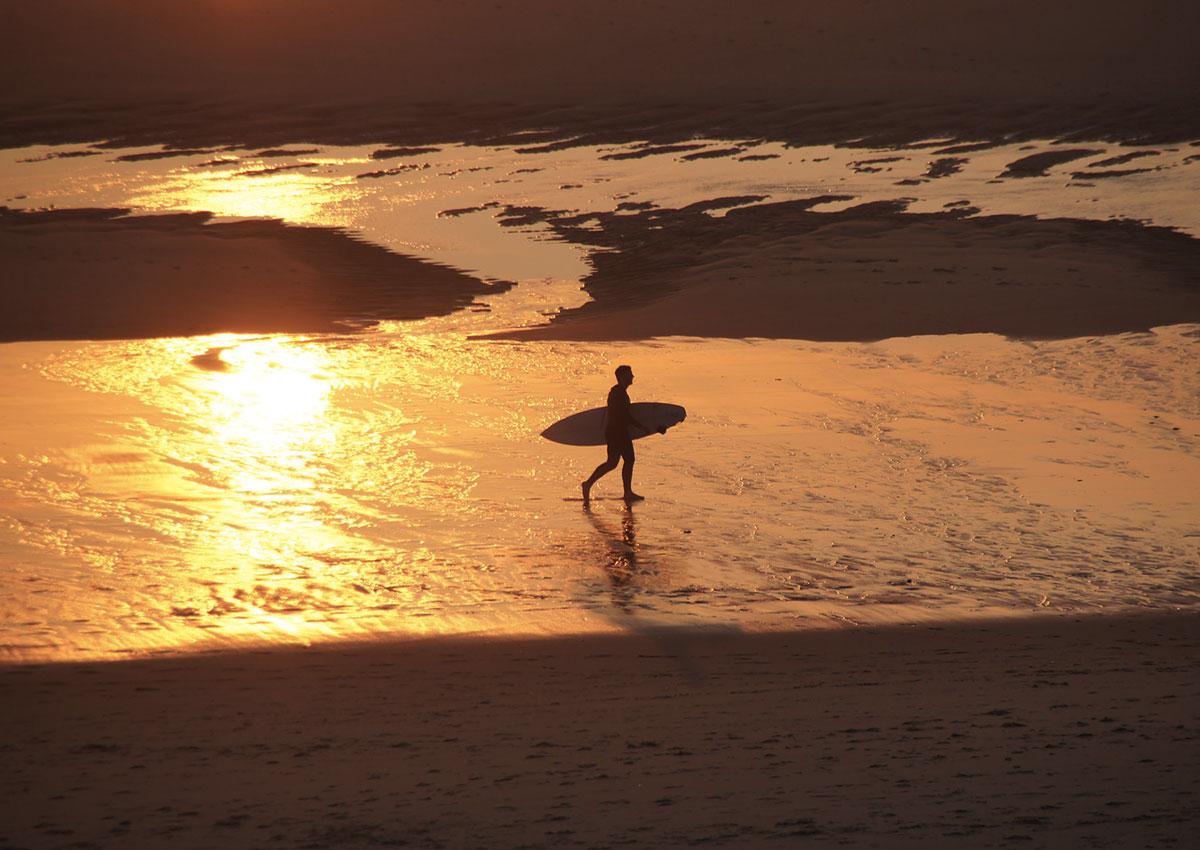 Initiation de surf dans les Landes