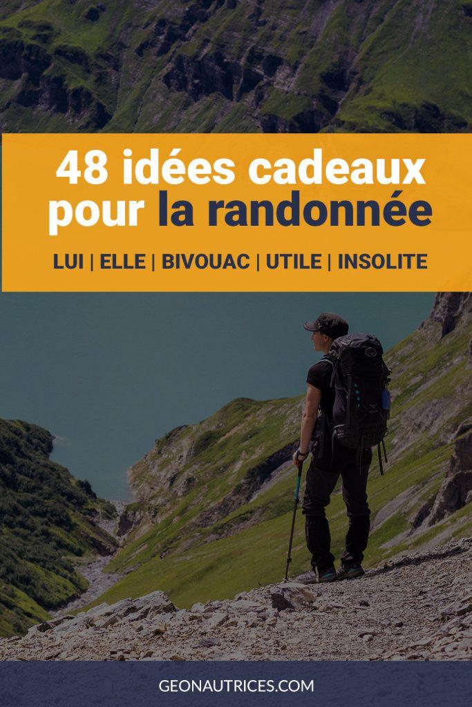 Voici 48 idees cadeaux pour la randonnée. Pour lui et elle ! Bivouac, insolite, utile... Noël, anniversaire, départ... Toutes les occasions sont bonnes ! #cadeau #noel #randonnee