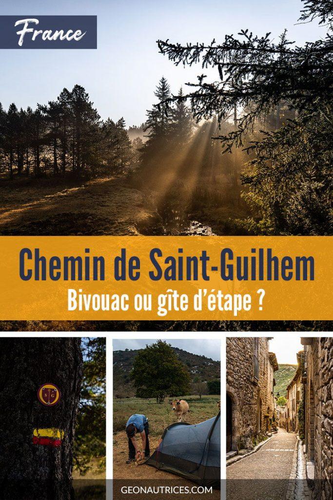 Faire la randonnée du Chemin de Saint-Guilhem en bivouac ou gîte d'étape ? Article complet. #randonnée #saintguilhem #massifcentral #bivouac