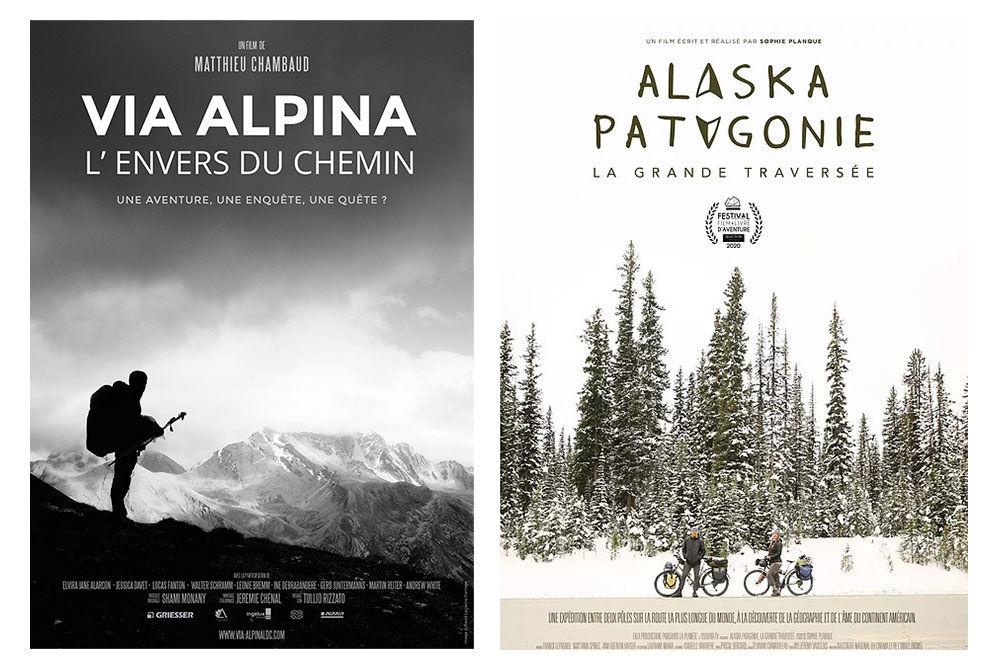 Source d'inspiration pour se lancer dans l'aventure : Via Alpina et Alaska-Patagonie, films documentaire de deux grandes traversée. Les Alpes à pied et les Amériques à vélo.