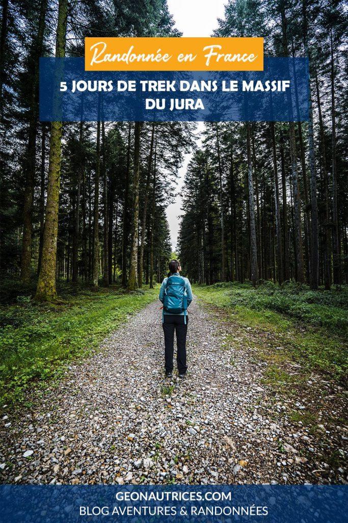 Randonnée de 5 jours dans le Jura, sur les traces de L'Échappée Jurassienne, une grande randonnée franco-suisse. À la découverte des trésors du Jura : cascades, lacs, forêts, points de vue à couper le souffle... Article complet sur le blog.