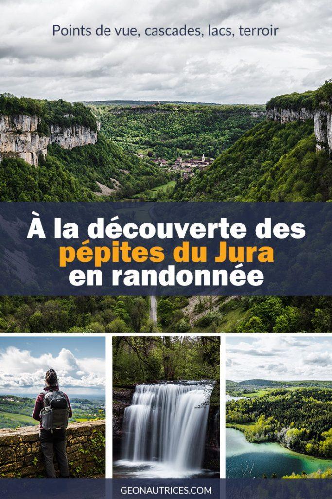 Visiter le Jura et ses pépites en randonnée. Découverte des cascades du Hérisson, forêt du Jura, lac de Chalain et autres lacs incroyables, belvédères à couper le souffle (Pic de l'Aigle, des 4 lacs...), gorges et village classé, etc. Article complet sur le blog.