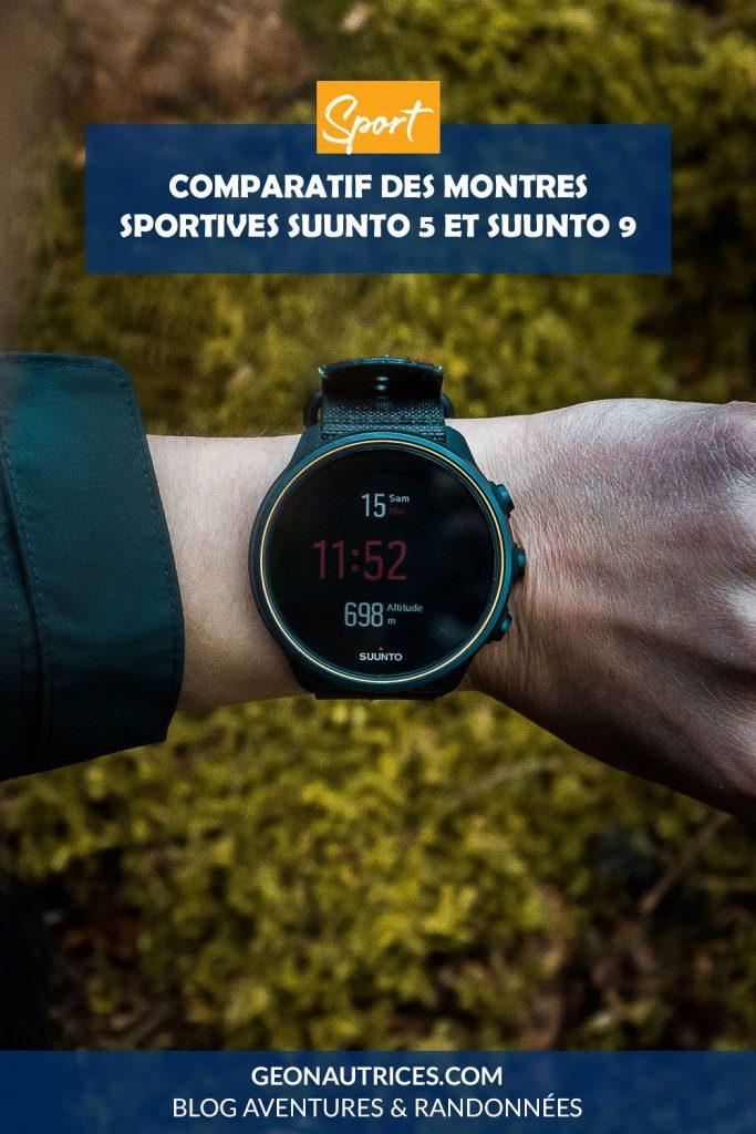 Comparatif des montres sportives Suunto 5 et Suunto 9 Baro. Présentation des montres et de la marque, avis.
