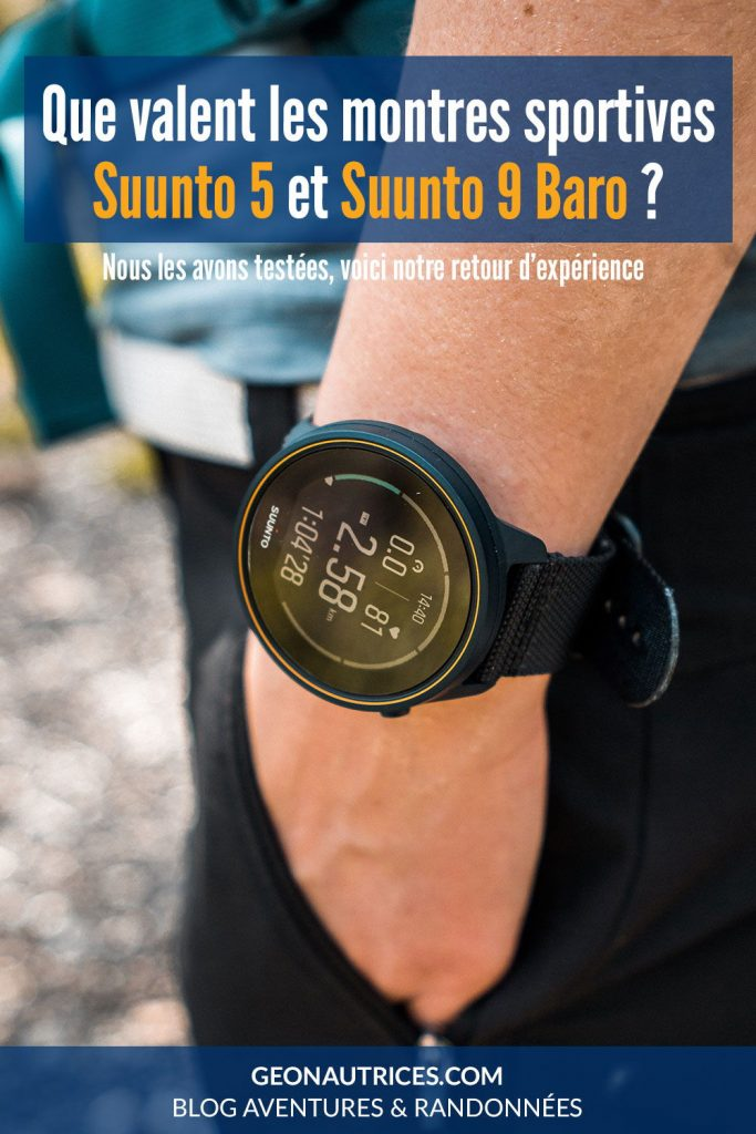 Test des montres sportives Suunto 5 et Suunto 9 Baro. Que valent ces montres sportives ? Retrouvez notre avis et le détail sur ces montres dans notre article.