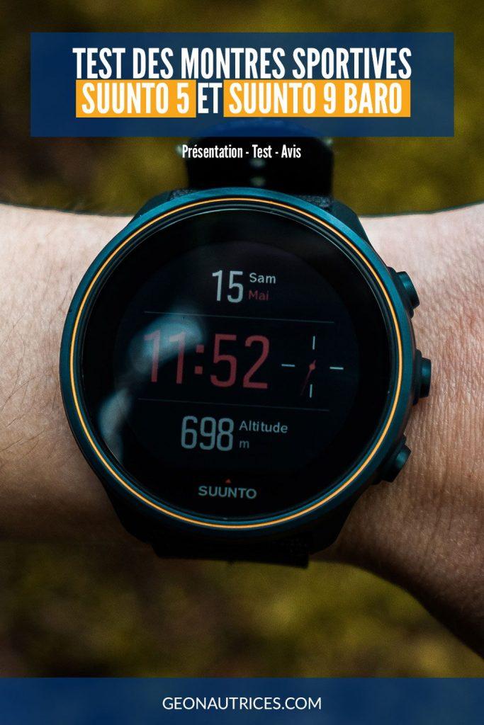 Test des montres sportives Suunto 5 et Suunto 9 Baro. Retrouvez notre avis et le détail sur ces montres dans notre article.